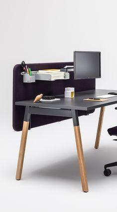 Black Office Furniture Design, Office Interior Design, Office Interiors, Wood Office Desk, Oak Desk, Cheap Furniture, Furniture Ideas, Desk Storage, Desk Legs