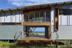Located in South Australia, Waitpinga House is a family retreat designed by Mountford Williamson Architecture. Shed Plans, House Plans, Clad Home, Shed Homes, Breezeway, Concrete Blocks, Sustainable Living, Modern Architecture, Building A House