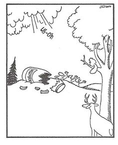 """Question: """"What is your favorite Gary Larson single panel comic? (The Far Side)"""" I like Gary Larson's Bears. You see, I sort of identify with those Bears. The Bears are frequently faced with some human artifact thrown into their world which they t. Cartoon Jokes, Funny Cartoons, Funny Comics, Gary Larson Cartoons, Far Side Cartoons, Far Side Comics, Gary Larson Far Side, Origin Of Species, Haha Funny"""