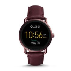 Fossil smart watch - wine leather