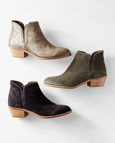 Alessandra Italian Ankle Boots | These black & green ones are great, but I wish they weren't suede