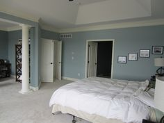 Paint Behr Bedroom Watery, master bath and office provence blue.