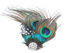 Womdee(TM) Fein Klein Süß Pfau Feder Haarspangen Haarklammern Haarschmuck Für Abendkleid Mit Womdee Accessorie