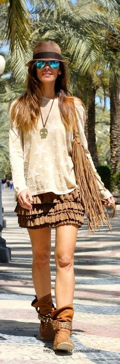 street style . ************** cute skirt. cute shirt. probably would not wear them together ~s