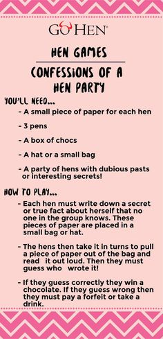 Confessions of a hen party