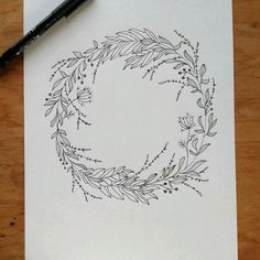 Amazing Pen and Ink Cross Hatching Masters Edition Ideas. Incredible Pen and Ink Cross Hatching Masters Edition Ideas. Wreath Drawing, Painting & Drawing, Illustration Blume, Tatto Ink, Botanical Line Drawing, Ink Drawings, Pen Art, Zentangle, Doodle Art