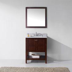 Virtu USA - ES-30030-WMRO-CH - Winterfell 30 in. Bathroom Vanity Set front view Best Bathroom Vanities, Bathroom Vanity Cabinets, Single Bathroom Vanity, Bathroom Furniture, Furniture Deals, Modern Furniture, Furniture Outlet, Online Furniture, Contemporary Baths