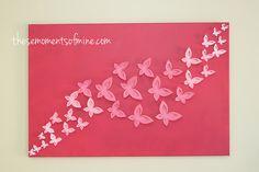 INSPIRÁCIÓK.HU Kreatív lakberendezési blog, dekoráció ötletek, lakberendező tanácsok: Pillangós kép készítése
