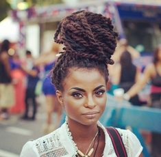 Marley twists high bun