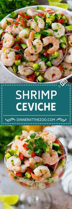 Ceviche Recipe Shrimp Mexican, Mexican Shrimp Recipes, Fish Recipes, Appetizer Recipes, Salad Recipes, Mexican Seafood, Shrimp Appetizers, Recipe For Ceviche, Potato Recipes