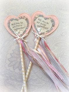 Will you be my Fairy wand vintage lace by StitchedbySistersuk Magic Wands, Craft Stalls, Fairy Wands, Fairy Godmother, Vintage Lace, Rosettes, Shower Ideas, Headbands, Centre