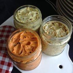 Butter-Trio ~ Tomatenbutter, Honig-Senf-Butter,Kräuter-Knoblauch-Butter