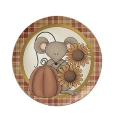 Fall Mouse Plate