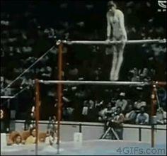Impressive gymnast dismount