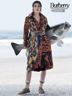 visual optimism; fashion editorials, shows, campaigns & more!: temporada de pesca: hilary rhoda by zee nunes for vogue brazil august 2014