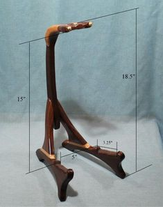 Handcrafted unique wooden guitar stands by South Mountain Woodworks