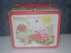 Strawberry Shortcake Metal Lunch Box with Aladdin Thermos Vintage 1980