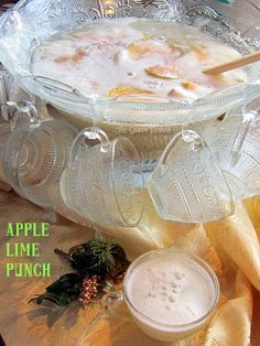 Apple Lime Punch...family-friendly but with a kick! #RECIPE #beverage #punch