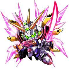 Gガンダムクリスタルハイパーモード(BB戦士オリジナルのアレ)。