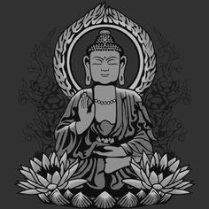 Gautama Buddha Halftone. #gautama #buddha #buddhist #spiritual #lotus #shirt #art #design #illustration #om #meditation #gautama #siddhartha