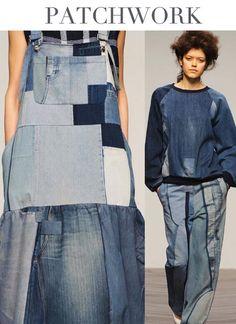 Recycled denim garments