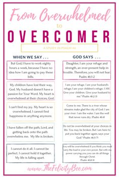 """To the Woman who is Overwhelmed. Are you feeling overwhelmed today? Between everything on our plates, our responsibilities, politics, the news . . . It's enough to tear your hair out.  I am sharing a post """"To The Woman who is Overwhelmed"""" over at The Hive. Check it out and know that God is with you and says to our overwhelmed heart . . . """"BE STILL""""."""