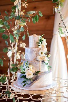 Boho Meets Modern in this North Georgia White Barn Wedding | The Perfect Palette Boho Cake, White Barn, Shades Of Blue, Wedding Colors, Georgia, Wedding Cakes, Wedding Day, Palette, Creative