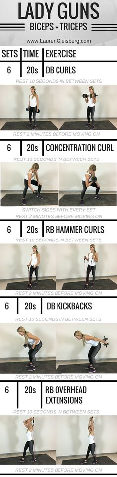 Weight Training Workout for tight, fit   lean arms ( biceps   triceps)  Full\u2026 #weightloss
