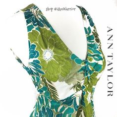 Ann Taylor floral print top Just reduced: Pretty floral cotton top with green and blue floral print. Great condition.👉🏻Please read my 'about me' listing for my closet policies before any inquiries/offers. Ann Taylor Tops