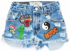 Patches are applied and sewn by hand so your shorts can survive the wear and tear of festival season! Wash by hand to avoid damage to the appliques. All items are handmade and created using vintage de