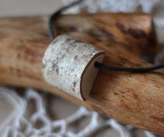 wooden necklace! birch wood.
