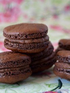 Cupcakes a diario: Macarons de... CHOCOLATEEEEEE!