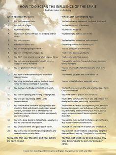 How to discern the influence of the Spirit by Elder John H. Groberg