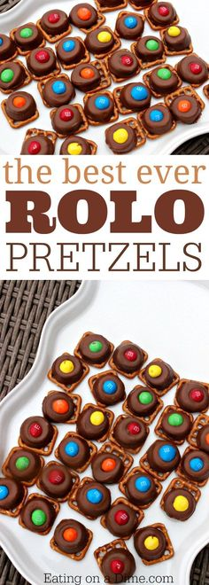 Rolo pretzels are our favorite pretzel treat. These rolo pretzel bites are the easiest dessert. Everyone loves our favorite pretzel treats with rolos. (Favorite Desserts Ovens)