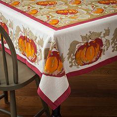Pumpkin Red/Green Table Cloth