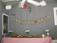 Chappell of Love: Country Chic Bridal Shower - love the banner