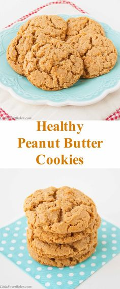 These cookies are a perfect balance of sweet and salty. They are soft and melt-in-your-mouth good. Made from natural pb, gluten-free, no butter, no white sugar, quick and easy to make. #peanutbuttercookies #healthy #naturalpeanutbutter #glutenfree