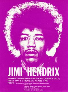 jimi Hendrix.  Saw him at this concert when I was in high school in Norman.