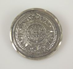 Vintage Taxco Sterling Silver Aztec Sun God by TheFashionDen, $65.00