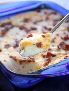 10 Recipes for an Easter potluck: Loaded mashed potato casserole from The Girl Who Ate Everything