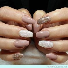 Nude palette for nails with glitter