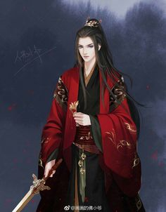 Manga Anime, Anime Art, Black Brown Hair, Chinese Man, China Art, Ancient China, Anime Sketch, Prince And Princess, Handsome Boys
