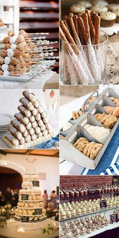 Wedding Reception Food creative wedding dessert ideas for 2018 trends - We couldn't help but notice that all of our favorite receptions had one thing in common: fabulously designed dessert displays! From cake tables overflowing with. Wedding Desert Table, Dessert Bar Wedding, Wedding Reception Food, Wedding Sweets, Wedding Catering, Wedding Cakes, Wedding Ideas, Fall Wedding, Unique Wedding Food