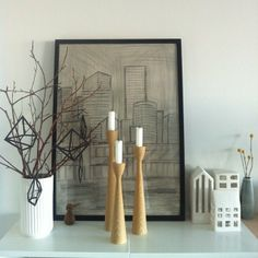 Freemover.se original Rolf™ wooden candlesticks - scandinavian design by Maria L Dahlberg