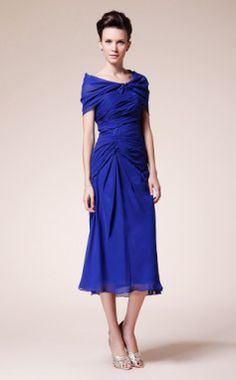 mother of the bride - hmmm - wonder if my mama might go for something like this? again, with a knee-length skirt