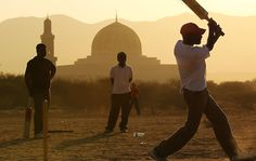 playing cricket ... in India