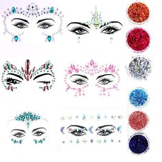 Mermaid Face Gems Jewels Rhinestones for Women Face Tatoo Festival Makeup Self-adhesive Crystals Eye Face Temporary Tattoo Stickers *** Click image to review more details. (As an Amazon Associate I earn from qualifying purchases) Face Gems, Festival Makeup, Body Makeup, Temporary Tattoo, Woman Face, Rhinestones, Adhesive, Mermaid, Jewels