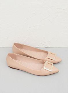 Metal piece patent ballet flat - See all - FOOTWEAR - Uterqüe United Kingdom