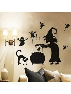 Happy Halloween Home Household Room Wall Sticker Mural Decor Decal Removable Canopy Bedroom Sets, Living Room Bedroom, Bedroom Decor, Removable Wall Stickers, Wall Stickers Murals, Halloween Wall Decor, Happy Halloween, Halloween Decorations, Wall Decals For Bedroom