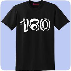 0afe0677 Humour T Shirt - Darts Related - T-Shirt - 180 - Black. Darts Corner